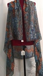 Accents by Lavello convertable vest scarf one size